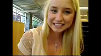 Blond girl squirts in public school - more vide... Thumbnail