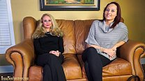 Casting couch amateurs go lesbian in dual inter... thumb