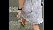 5558 Walking on the street eating dress preview