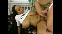 Black girl with huge boobs fucked and splattered with cum
