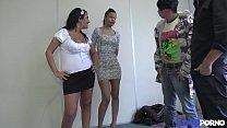 8308 Sarah initie sa copine Eva à la double pénétration [Full Video] preview