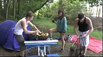 A Girl Fucked H ard By Two Guys In A Camping  In A Camping