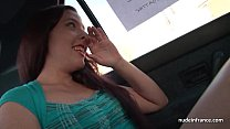 Amateur french teen hard anal fucked and facialized in our warehouse image