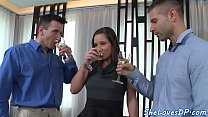 Spitroasted bigtit babe receives facial video