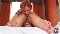 Tattooed trans rimming asian girlfriend