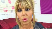 English milf Gabby Fox gets naughty in candy pi...