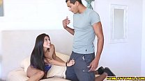Michelle Martinez stuffed in her mouth with a real cock
