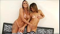 2 beautiful girl with tan line...