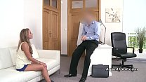 Fake agent bangs tanned brunette beauty Image