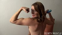 Fit Tattooed Redhead Fucks Herself With Her Toy