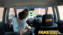 Fake Driving School Horny blonde American learners squirting orgasms thumbnail