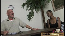 Hot ebony chick in interracial gangbang 4