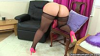 UK milfs Louise Bassett and Jessica Jay playing in tights video