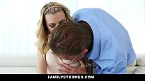 FamilyStrokes - Daddy fucks step daughter every time mommy leaves [패밀리 스트록스 Family strokes site]