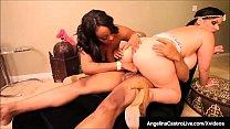 BBW Angelina Castro & Black Babe Kristi Maxx Ba...