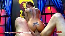 Sexy Silvia Dellai at a sexy pose threesome swallow cumshots getting anal fuck GermanGooGirls