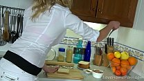 Busty Blonde Gets It In The Kitchen