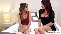 Pussy tribbing with skanky ladies Angela and Kr...