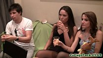 Real euro teen spitroasted in foursome