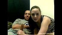 Sexy couple amateur blowjob homemade on webcam