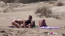 Beach Dogging! Ainara fucks a voyeur and a couple join the fun thumbnail