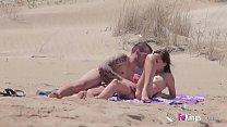 11476 Beach Dogging! Ainara fucks a voyeur and a couple join the fun preview