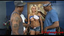 Big boobs blonde whore analyzed by massive blac...