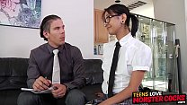 Inked Asian schoolgirl rides dick and craves cum in mouth - 9Club.Top