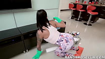 Latina housekeeper earns extra cash by getting ...