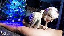 Hot Blonde Passionate Blowjob Big Dick Lover Under the Tree - POV صورة