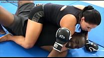 Interracial MMA Mixed Wrestling vs Buff Chick