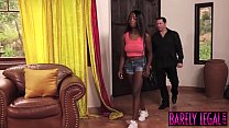 Black teen Daya Knight eats married man cum after banging