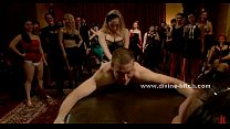 Ladies party turns nasty in femdom sex video