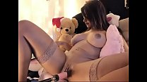 Busty Latin bitch let robot toy fucking pussy on cam pornhub video
