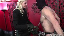 Ariel face sits and spanks femdom male slave [고환 고문 Ballbusting]