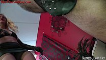 Ariel face sits and spanks femdom male slave
