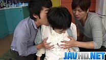 Insolent Japanese Beauty Gets Ready To Fuck With Two Guys