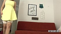Alexsis Faye masturbe in yellow dress and stockings - 9Club.Top