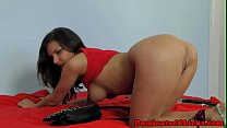 Flogged eurobabe roughfucked in missionary