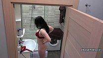 Beautiful Ledy Nec in the bathroom - Hidden cam