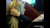 hot blonde public teasing صورة