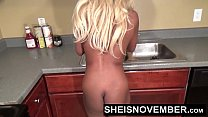 HD Naked Ebony Redbone Spinner Msnovember Being Playful In The Kitchen Standing And Spreadning Her Young Shaved Pussy With Her Big Natural Saggy Breasts Out Cleaning Kitchen Long Blonde Hair Sheisnovember صورة
