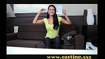 Casting - Beautiful brunette gets perfect body ...