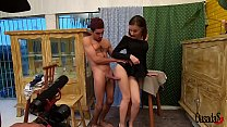 Young amateur Luara Amaral behind the scenes of her first time - Big Bambu - Binho Ted - Sandro Lima