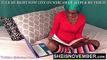 EbonyGoth Msnovember Playing With Blackpussy & BlackClit Until Her LittleCunt Orgasms on Sheisnovember