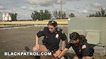 BLACK PATROL - Black Thug Burglar Fucks MILF Police Women For Freedom Vorschaubild