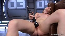 Lean on redhead solo babe fucks machine thumbnail
