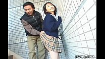 Schoolgirl Seire Mochizuki gets kinky on the st...