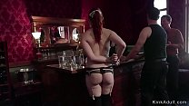 Orgy discipline of submissive slaves
