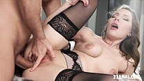 Lina Mercury Enjoys Anal Sex In Black Lace Ling